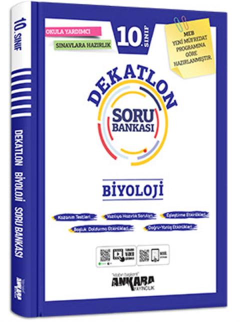 Ankara Yayıncılık 10. Sınıf Biyoloji Dekatlon Soru Bankası