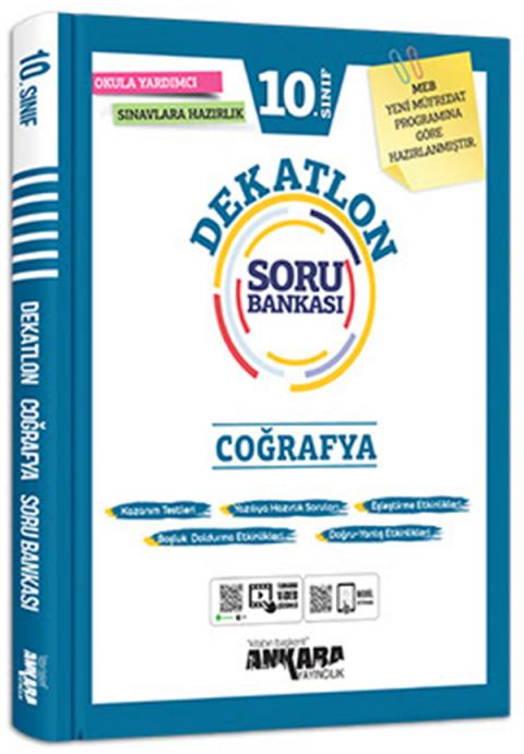 Ankara Yayıncılık 10.Sınıf Coğrafya Dekatlon Soru Bankası