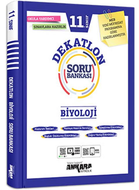 Ankara Yayıncılık 11. Sınıf Biyoloji Dekatlon Soru Bankası