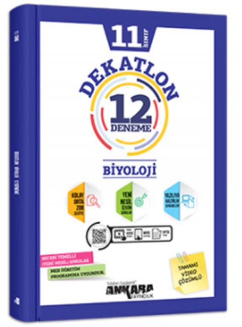 Ankara Yayıncılık 11.Sınıf Dekatlon Biyoloji 12 Deneme