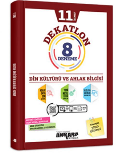 Ankara Yayıncılık 11.Sınıf Dekatlon Din Kültürü Ve Ahlak Bilgisi 12 Deneme
