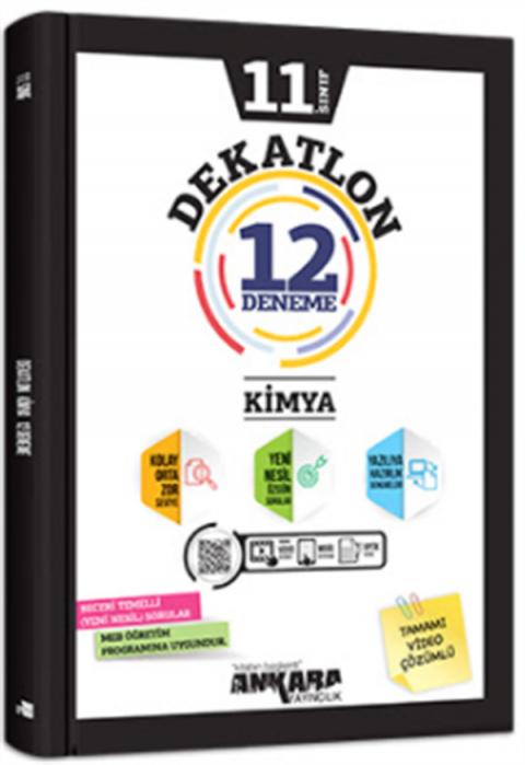 Ankara Yayıncılık 11.Sınıf Dekatlon Kimya 12 Deneme