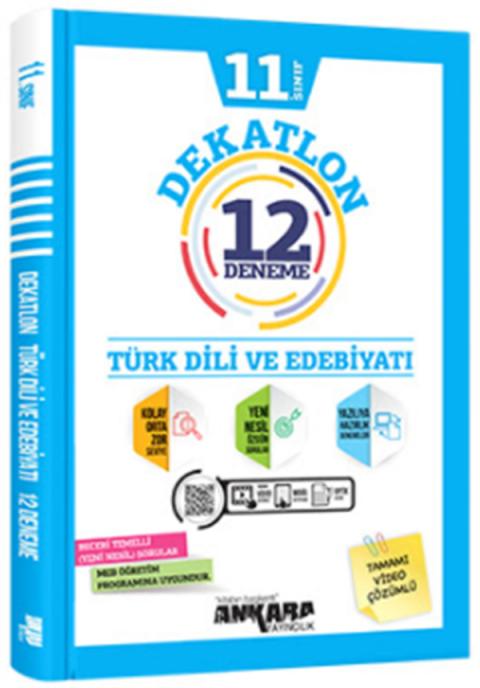 Ankara Yayıncılık 11.Sınıf Dekatlon Türk Dili ve Edebiyatı Denemeleri (12 Adet)
