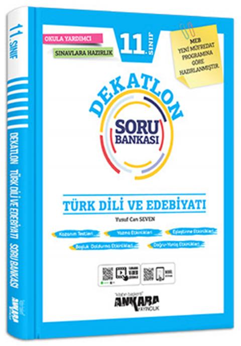 Ankara Yayıncılık 11.Sınıf Türk Dili Ve Edebiyatı Dekatlon Soru Bankası