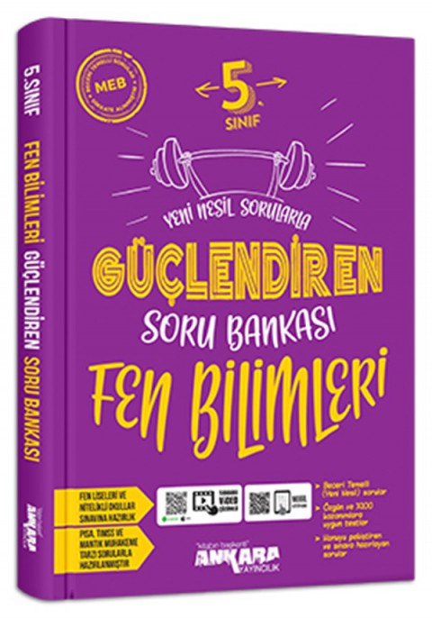 Ankara Yayıncılık 5.Sınıf Güçlendiren Fen Bilimleri Soru Bankası