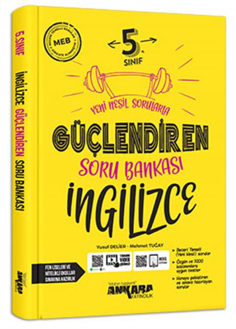 Ankara Yayıncılık 5.Sınıf Güçlendiren İngilizce  Soru Bankası