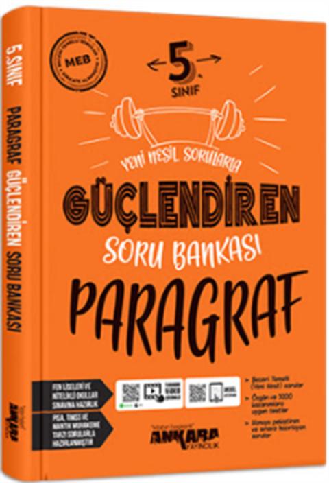 Ankara Yayıncılık 5.Sınıf Güçlendiren Paragraf Soru Bankası