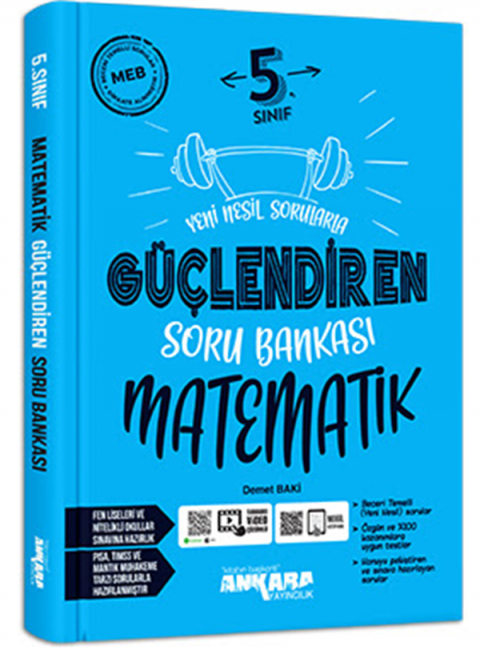 Ankara Yayıncılık  5.Sınıf Matematik Güçlendiren Soru Bankası
