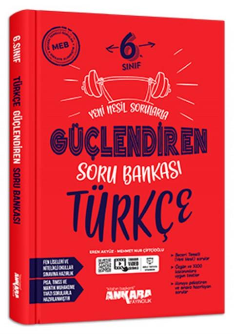 Ankara Yayıncılık 6. Sınıf Türkçe Güçlendiren Soru Bankası Soru