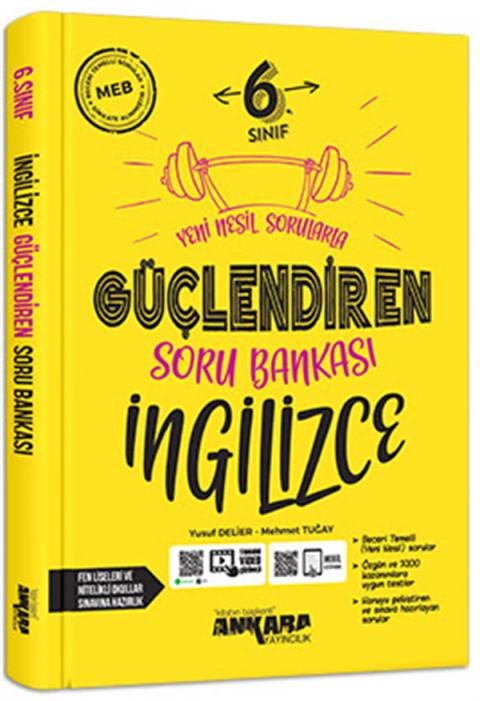 Ankara Yayıncılık 6.Sınıf Güçlendiren İngilizce Soru Bankası