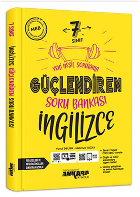 Ankara Yayıncılık 7. Sınıf Güçlendiren İngilizce Soru Bankası