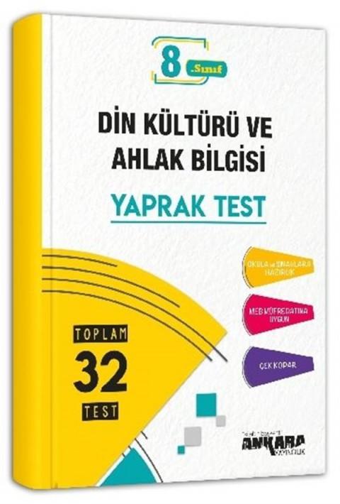 Ankara Yayıncılık 8. Sınıf Din Kültürü ve Ahlak Bilgisi Yaprak Test