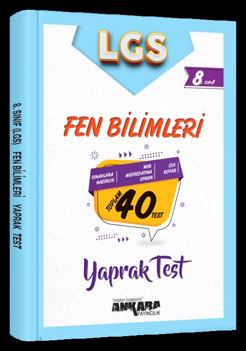 Ankara Yayıncılık 8.Sınıf Fen Bilimleri 40 Yaprak Test
