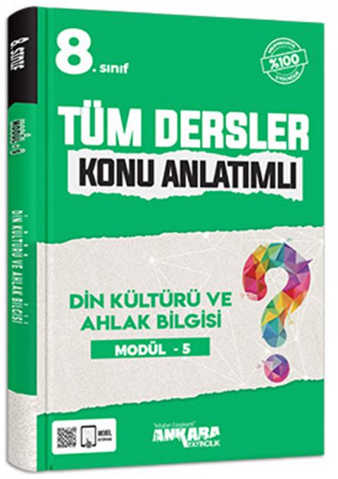 Ankara Yayıncılık 8. Sınıf Tüm Dersler Konu Anlatımlı Din Kültürü ve Ahlak Bilgisi Modül 5