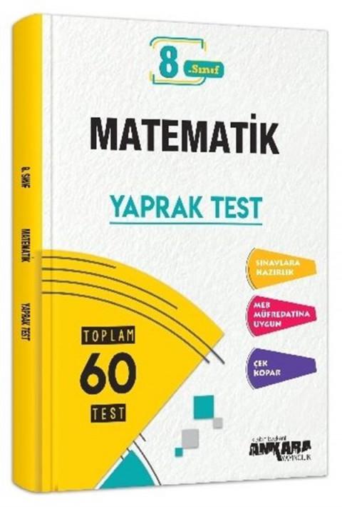 Ankara Yayıncılık 8. sınıf Matematik Yaprak Testi