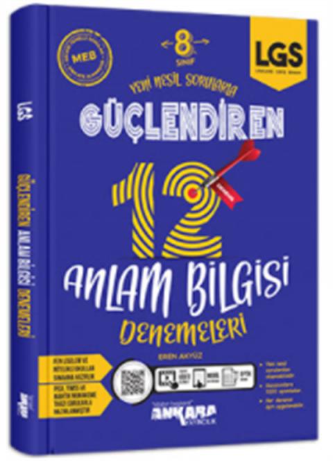 Ankara Yayıncılık 8.Sınıf Güçlendiren 12 Anlam Bilgisi Denemeleri