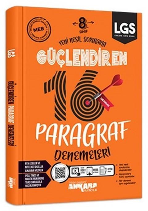 Ankara Yayıncılık 8. Sınıf Paragraf Güçlendiren Denemeleri (16 Adet)