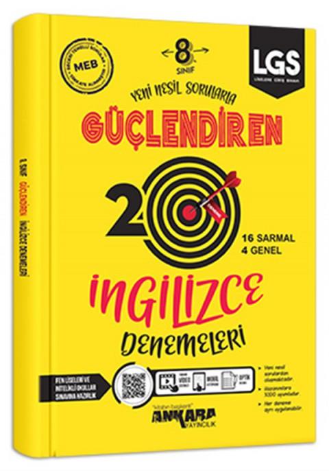 Ankara Yayıncılık 8.Sınıf Güçlendiren ingilizce 20 deneme