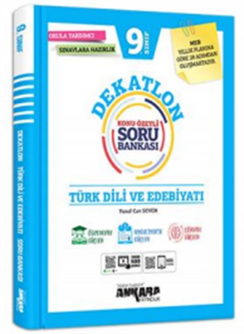 Ankara Yayıncılık 9. Sınıf Dekatlon Türk Dili Ve  Edebiyatı Konu Özetli Soru Bankası