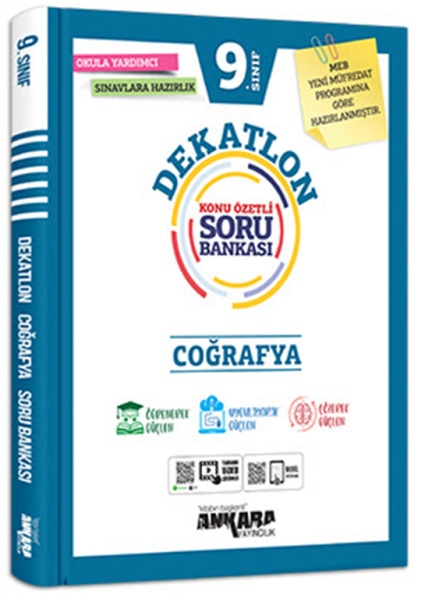 Ankara Yayıncılık 9.Sınıf Coğrafya Dekatlon Soru Bankası