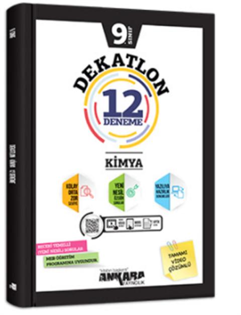 Ankara Yayıncılık 9.Sınıf Kimya Dekatlon Denemeleri (12 Adet)