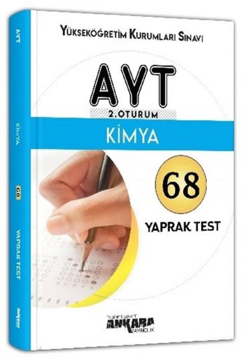 Ankara Yayıncılık AYT 2. Oturum Kimya 68 Yaprak Test