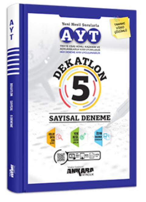 Ankara Yayıncılık AYT Dekatlon 5 Sayısal Deneme