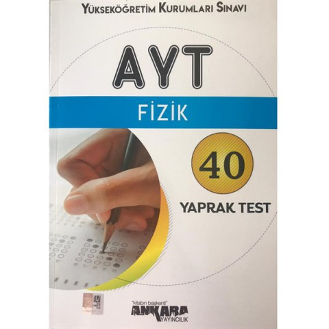 Ankara Yayıncılık AYT Fizik Yaprak Test