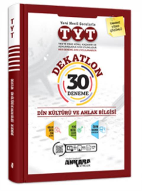 Ankara Yayıncılık TYT Dekatlon Din Kültürü Ve Ahlak Bilgisi 30 Deneme