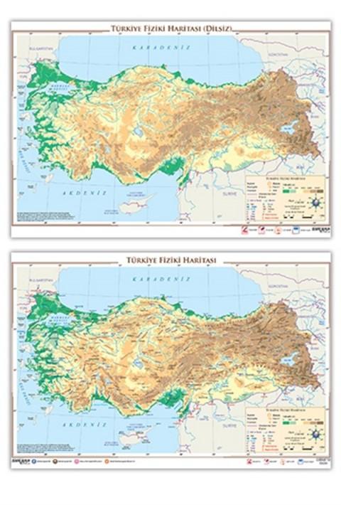 Ankara Yayıncılık Türkiye Fiziki Haritası  (Yazılabilir - Silinebilir)