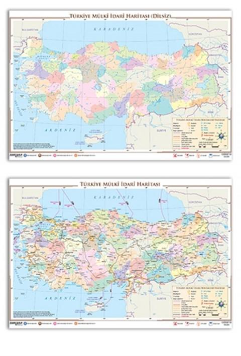 Ankara Yayıncılık Türkiye Mülki İdare Haritası Ankara Yayıncılık (Yazılabilir - Silinebilir)