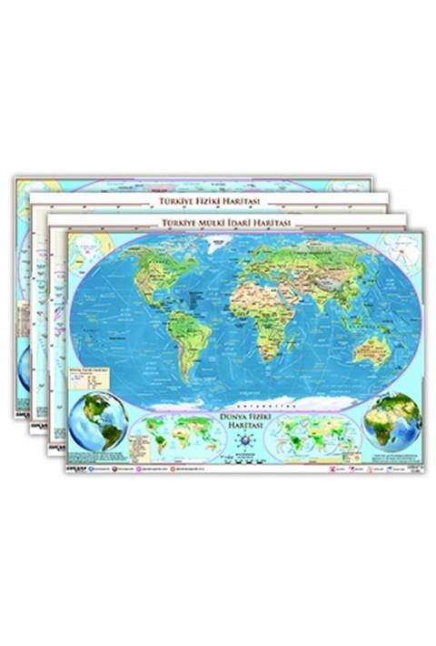 Ankara Yayıncılık Türkiye Ve Dünya Haritalar Seti