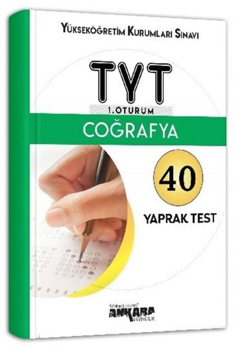 Ankara Yayıncılık YKS TYT 1. Oturum Coğrafya 40 Yaprak Test