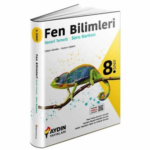 Aydın Yayınları 8.Sınıf Fen Bilimleri Beceri Temelli Soru Bankası Aydın Yayınları