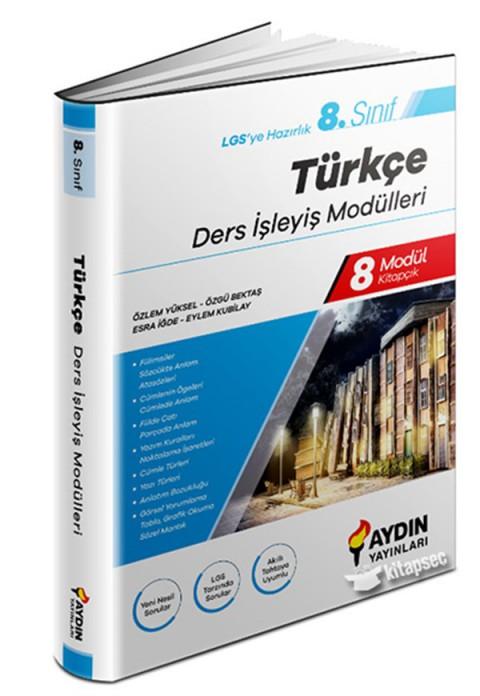 Aydın Yayınları 8.Sınıf Türkçe Ders İşleyiş Modülleri Aydın Yayınları