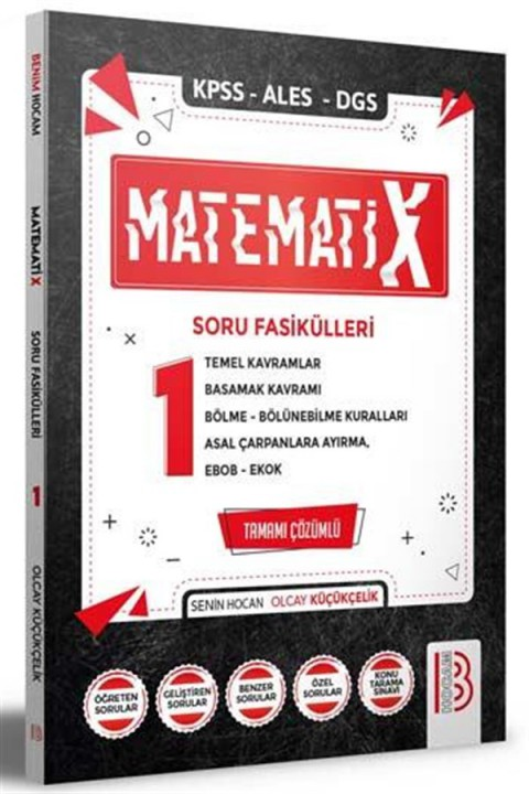 Benim Hocam Yayınları 2021 KPSS ALES DGS MatematiX Soru Fasikülleri 1