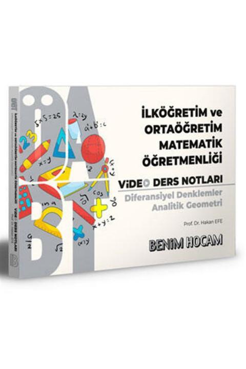Benim Hocam Yayınları 2021 ÖABT İlköğretim ve Ortaöğretim Matematik Öğretmenliği Diferansiyel Denklemler Analitik Geometri Video Ders Notları