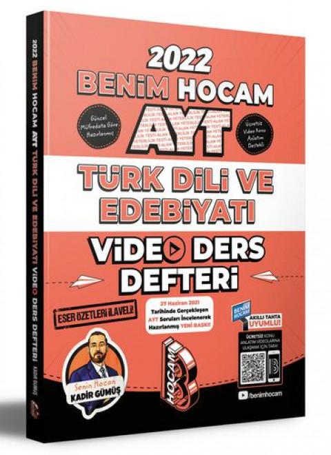 Benim Hocam Yayınları 2022 AYT Türk Dili ve Edebiyatı Video Ders Defteri