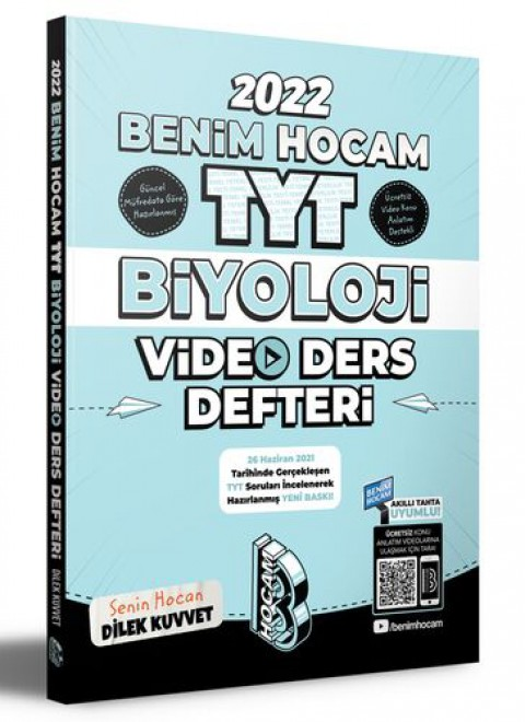 Benim Hocam Yayınları 2022 TYT Biyoloji Video Ders Defteri