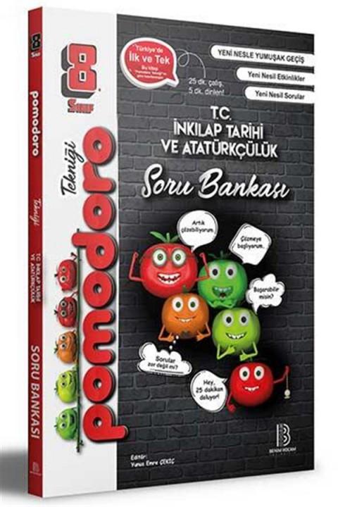 Benim Hocam Yayınları 8. Sınıf Pomodoro T.C. İnkılap Tarihi ve Atatürkçülük Soru Bankası
