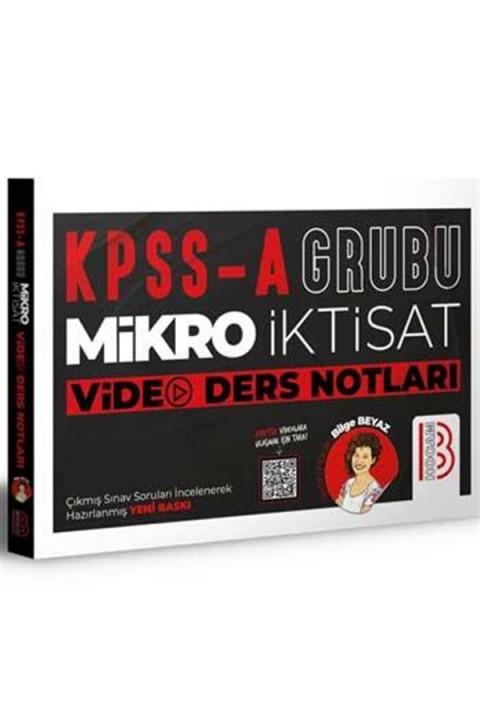 Benim Hocam Yayınları KPSS A Grubu Mikro İktisat Video Ders Notları