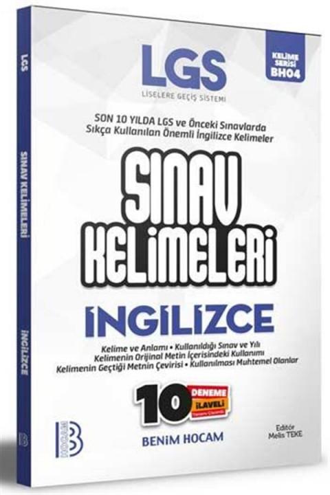 Benim Hocam Yayınları LGS İngilizce Sınav Kelimeleri 10 Deneme İlaveli