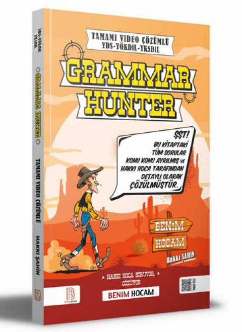 Benim Hocam Yayınları YDS - YÖKDİL - YDT Grammar Hunter Tamamı Çözümlü Soru Bankası