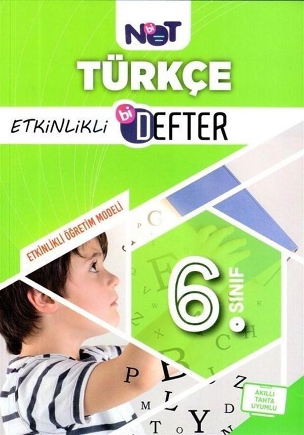 BiNot Yayınları 6. Sınıf Türkçe Etkinlikli Bi Defter