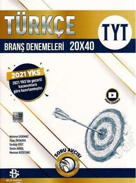 Bilgi Sarmal Yayınları YKS TYT Türkçe 20x40 Branş Denemeleri Video Çözümlü