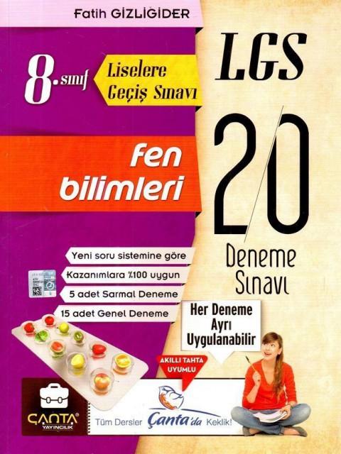 Çanta Yayınları 8.Sınıf LGS Fen Bilimleri 20 Deneme Sınavı