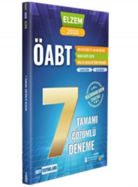 DDY Yayınları 2020 ÖABT Elzem Serisi Din Kültürü ve Ahlak Bilgisi Çözümlü 7 Deneme