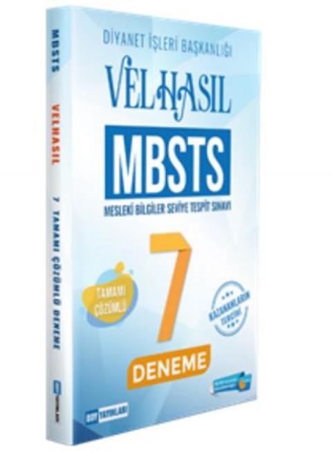 DDY Yayınları MBSTS VELHASIL 7 Deneme Çözümlü