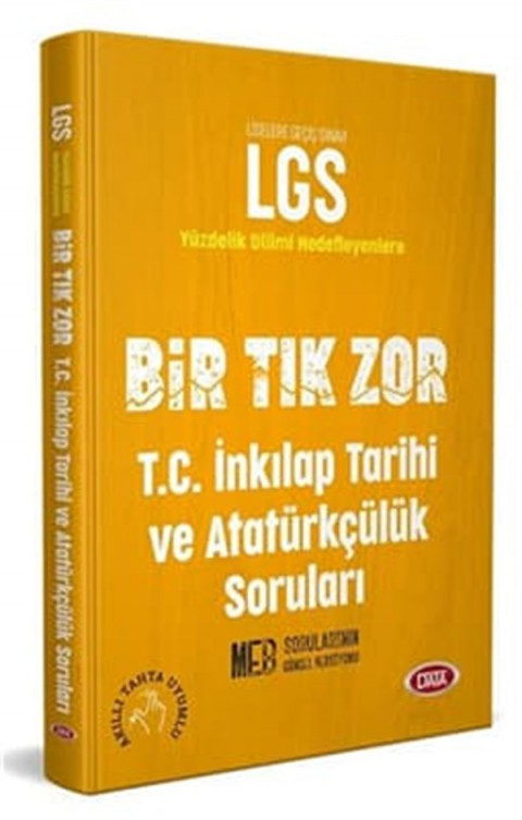Data Yayınları LGS Bir Tık Zor T.C. İnkılap Tarihi ve Atatürkçülük Soru Bankası