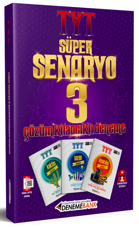 DenemeBank Yayınları YKS TYT Süper Senaryo 3 Deneme